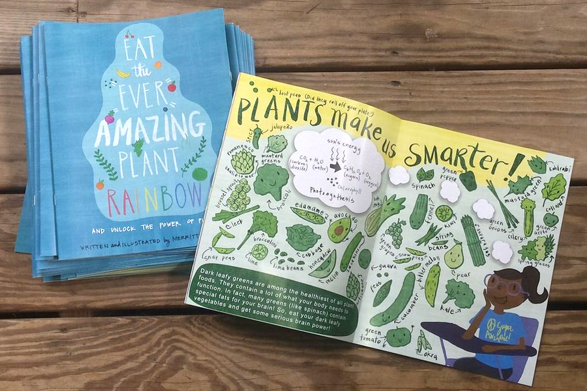 eat the ever amazing plant rainbow and unlock the power of plants, children's book preview